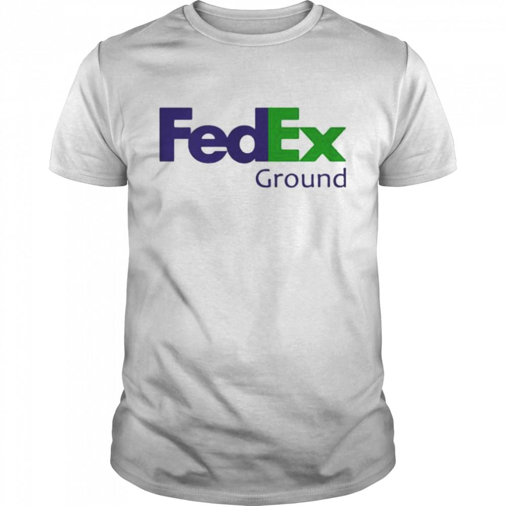Fedex Ground Logo Blue Green Shirt