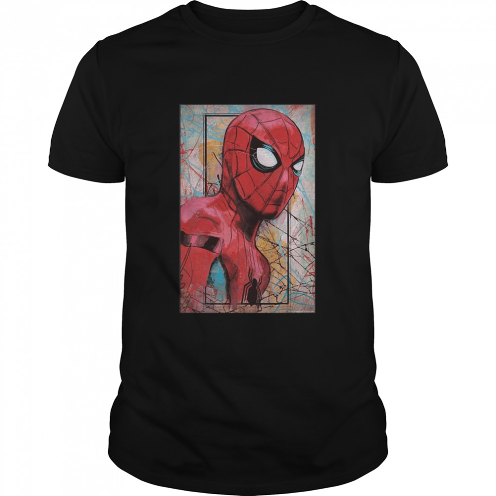 Marvel Spider-Man Far From Home Poster T-shirt Classic Men's T-shirt