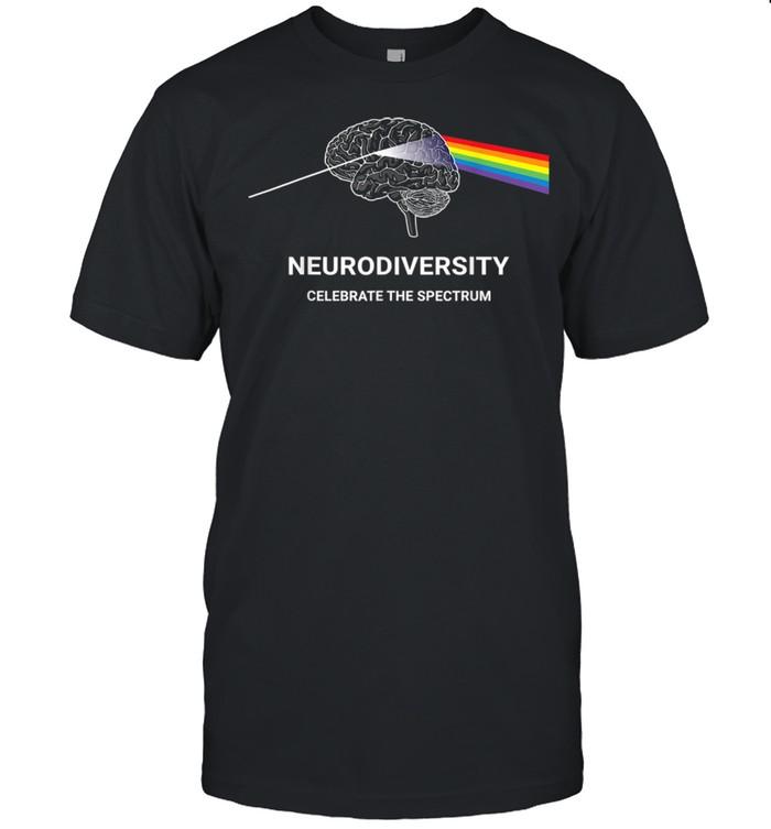 Neurodiversity Autism Spectrum ASD ADHD Rainbow Brain Shirt