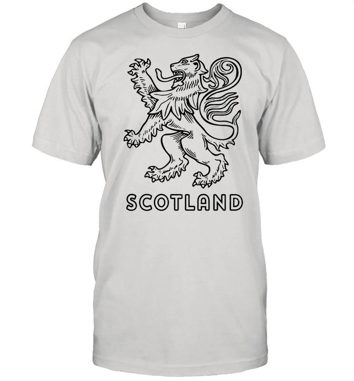 Scottish Rampant Lion Scotland Rugby Football Langarmshirt Shirt