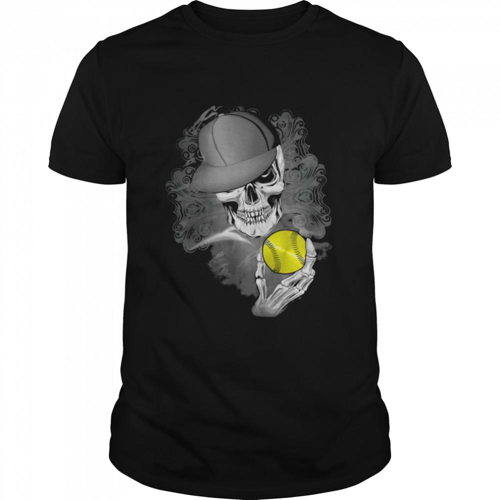 Softball Skull Shirt