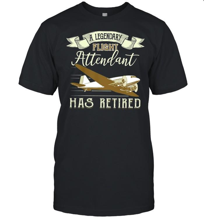 A Legendary Flight Attendant Has Retired shirt Classic Men's T-shirt