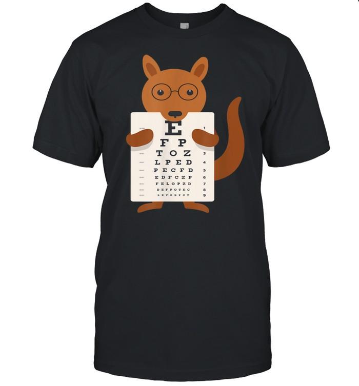 Australia Kangaroo Glasses Optician Eyes Test Blackboard  Classic Men's T-shirt