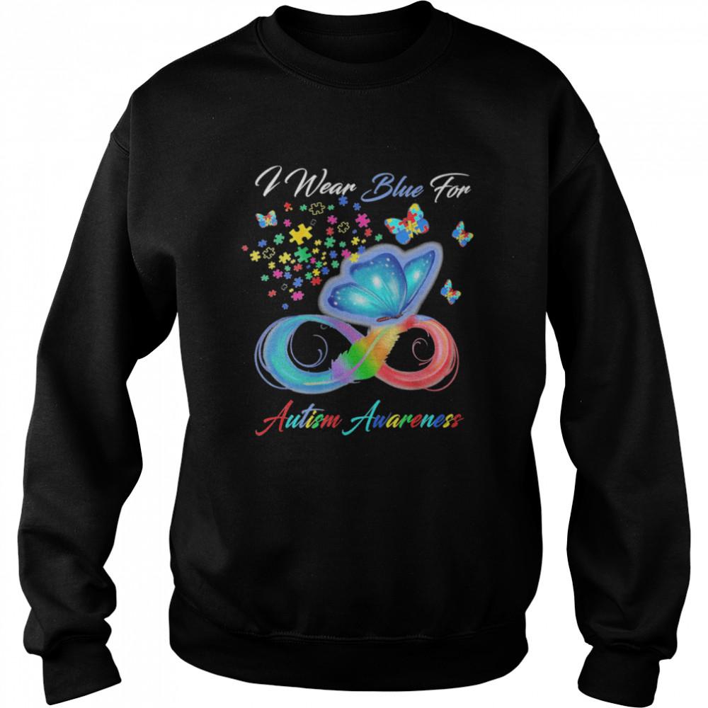Grateful I Wear Blue For Autism Awareness shirt Unisex Sweatshirt