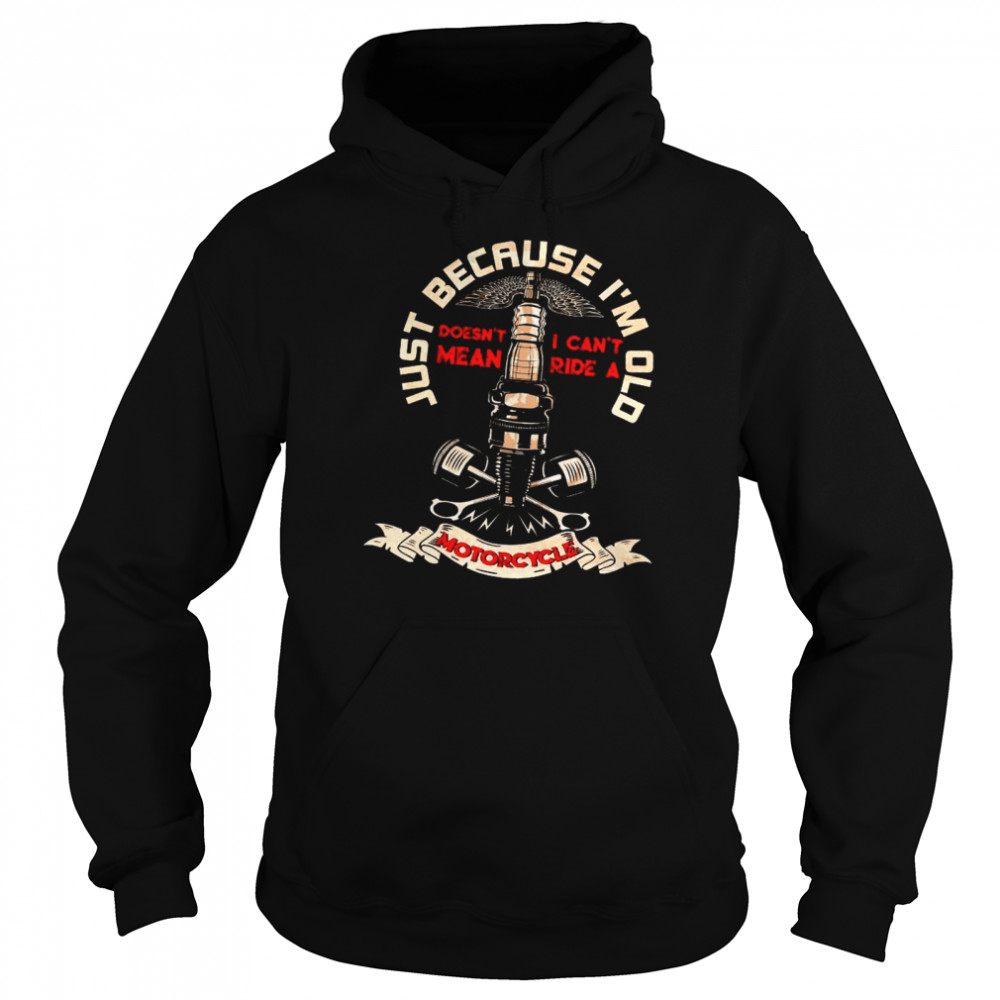 Just Because I'm Old Motorcycle shirt Unisex Hoodie