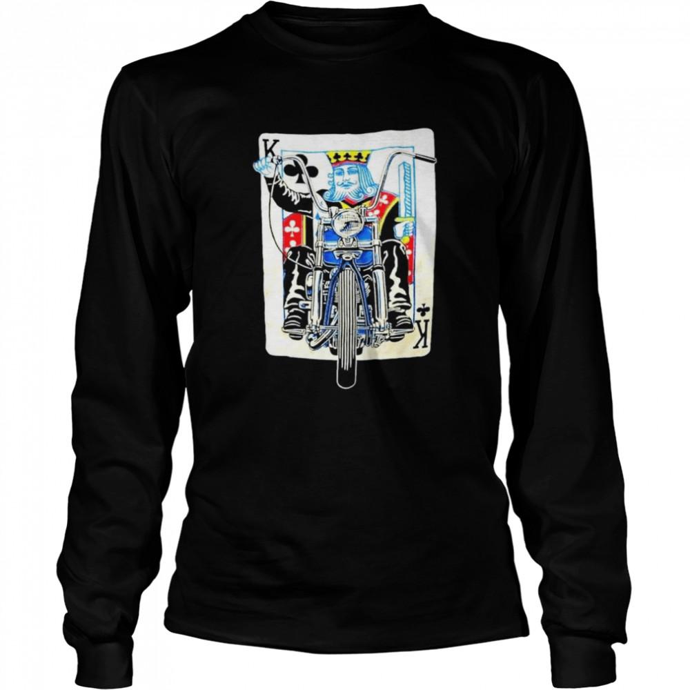 K card Biker shirt Long Sleeved T-shirt