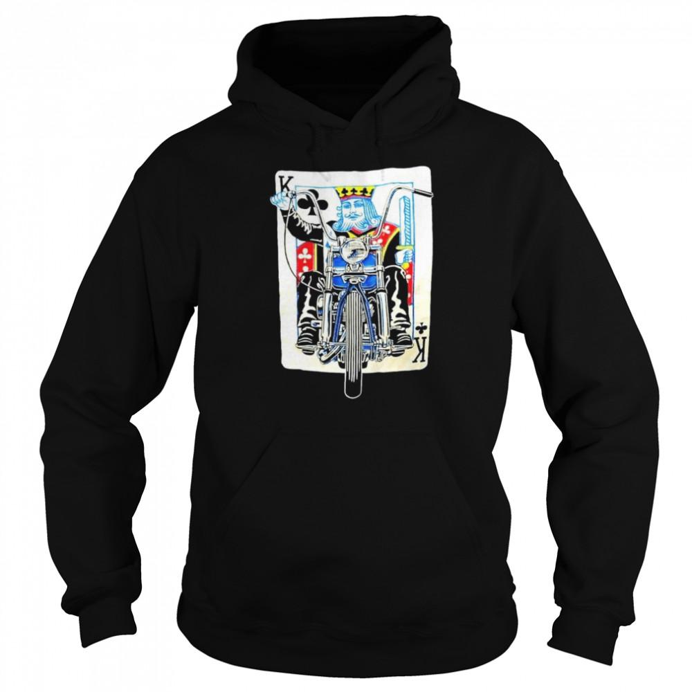 K card Biker shirt Unisex Hoodie
