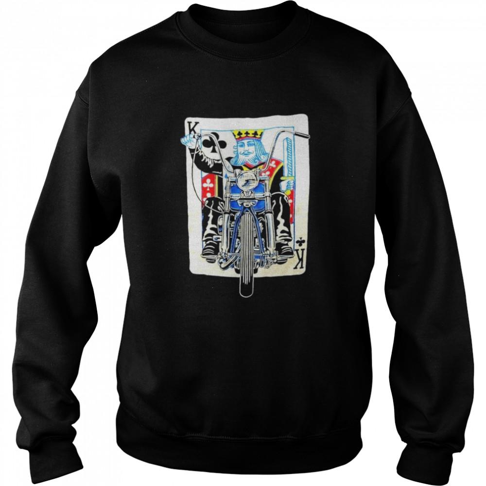 K card Biker shirt Unisex Sweatshirt