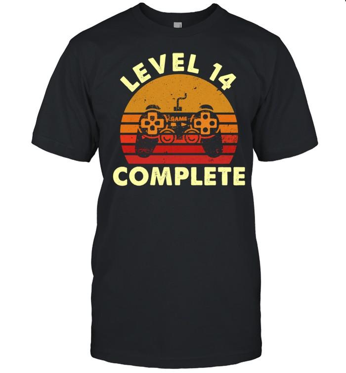 Level 14 Complete Vintage Celebrate 14th Wedding  Classic Men's T-shirt