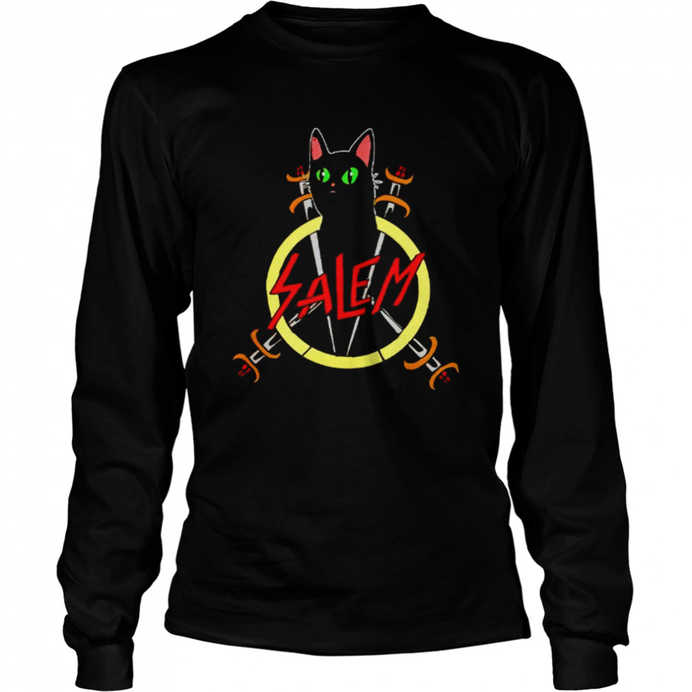 Salem the Slayer cat shirt Long Sleeved T-shirt