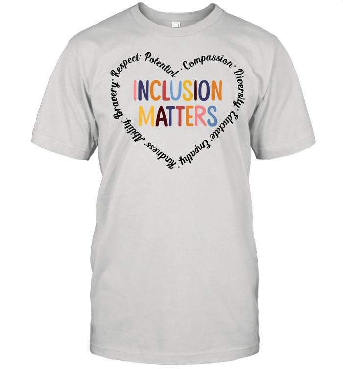 Sped Teacher Inclusion Matters Heart shirt Classic Men's T-shirt
