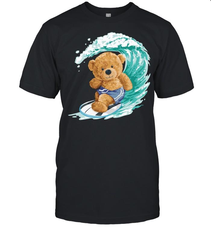surfer teddy bear  Classic Men's T-shirt