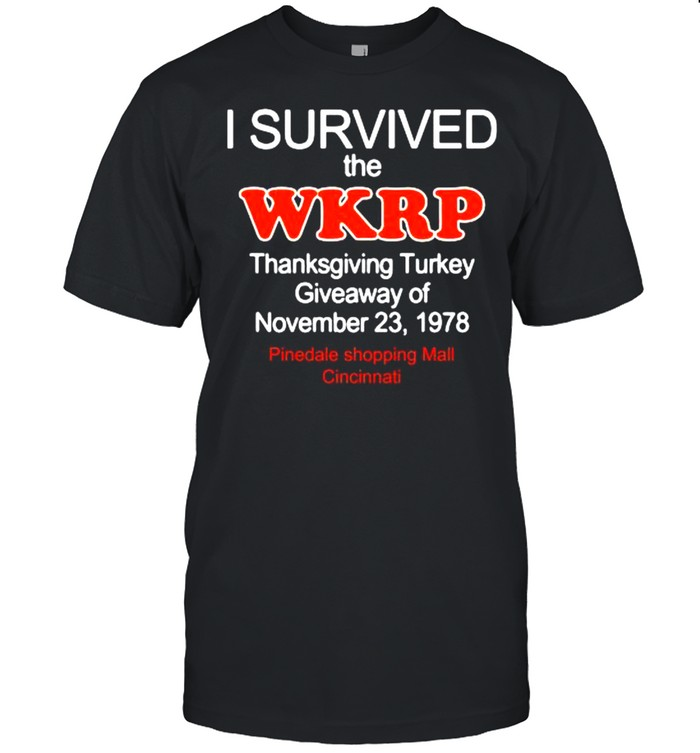 I survived the wkrp turkey drop thanksgiving turkey shirt