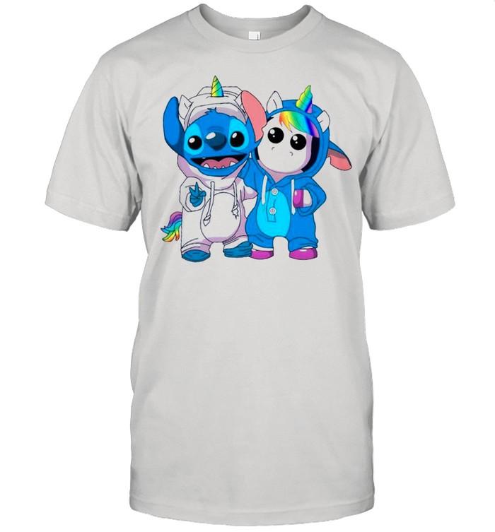 Lilo And Stitch Cool With Unicorn shirt