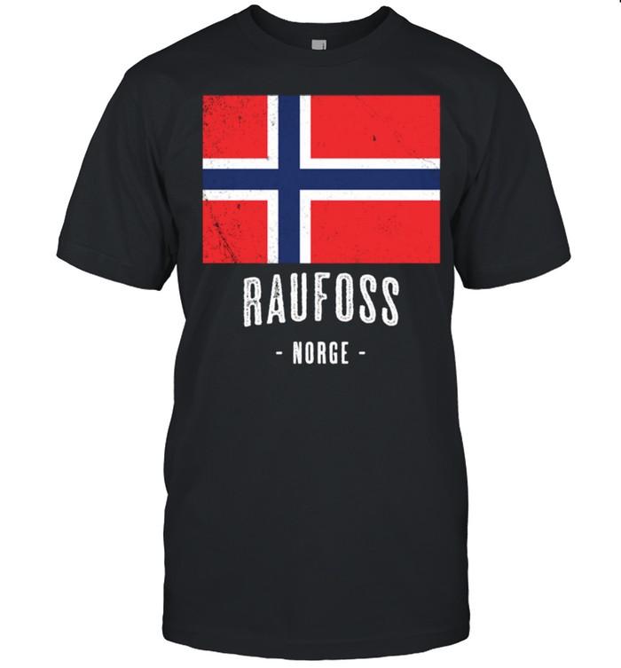 Raufoss Norwegen Norway Norwegische Flagge Langarmshirt shirt