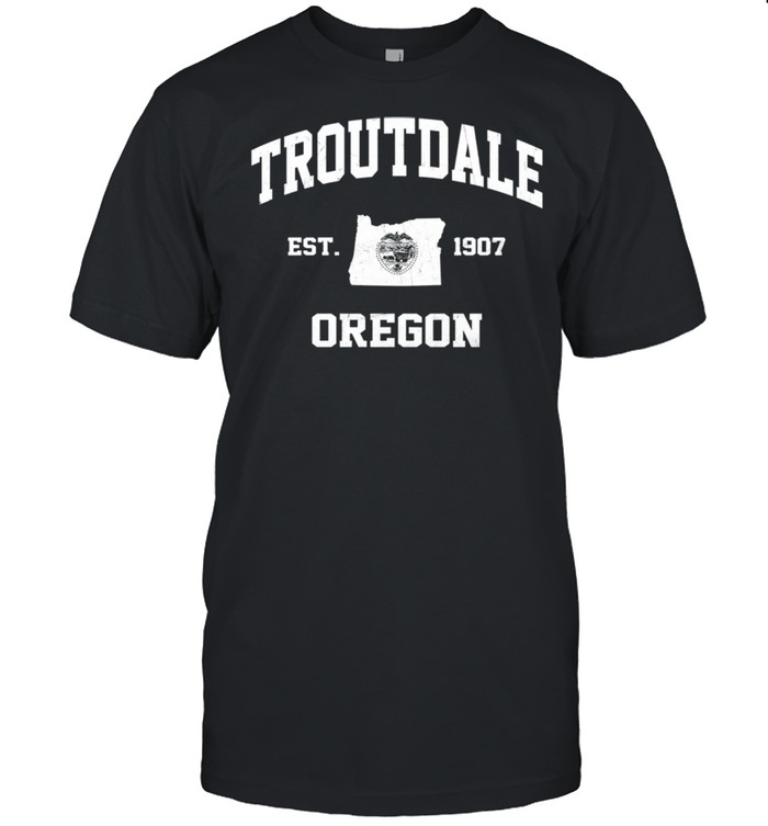 Troutdale Oregon OR vintage State Athletic style shirt