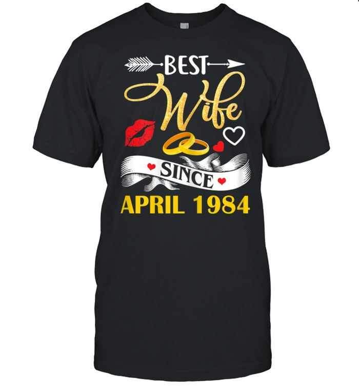 37 Wedding Anniversary Outfit Best Wife Since 1984 Shirt
