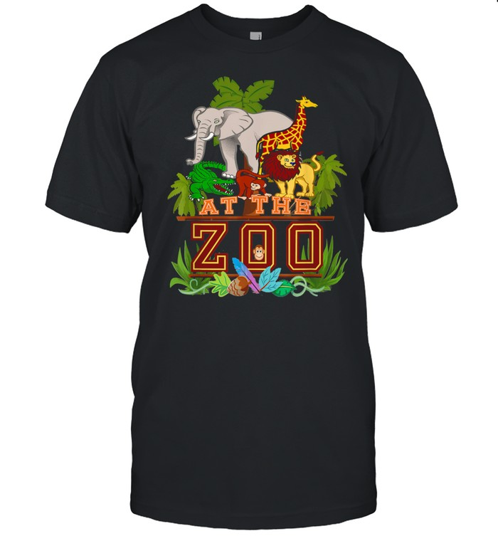 A Day at the Zoo Birthday Party Cute Wild Fun Jungle Animals Shirt