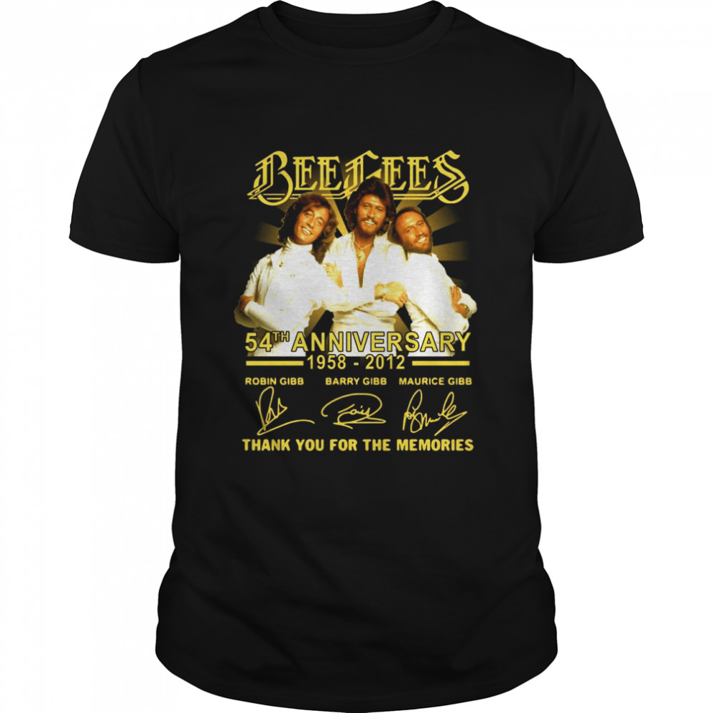 Bee Gees 54th Anniversary 1958-2021 Signatures Thank You For The Memories T-shirt Classic Men's T-shirt