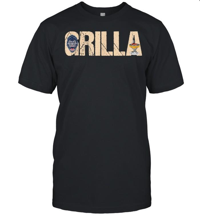 Grilla Gorilla Grillparty Grillen Frillfan Vater Spruch  Classic Men's T-shirt