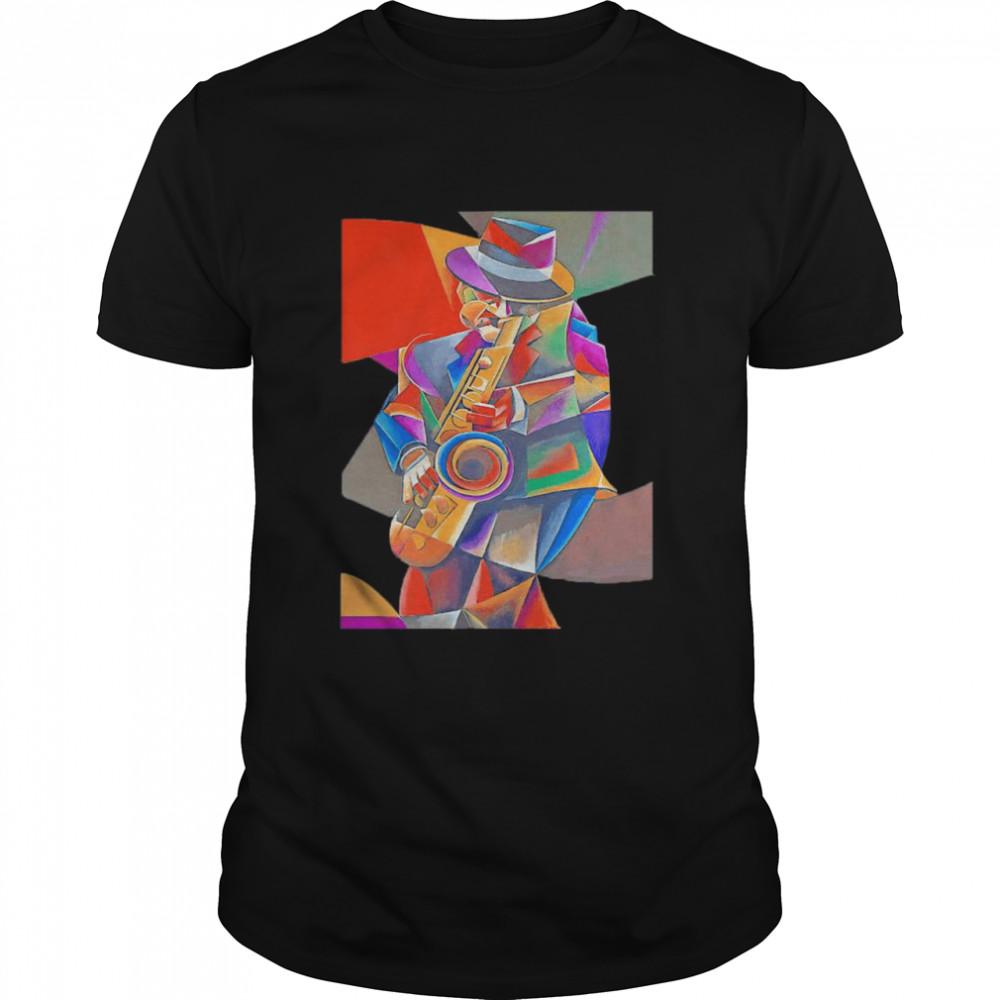 Jazz Sax Painting by Bob Gregory shirt Classic Men's T-shirt