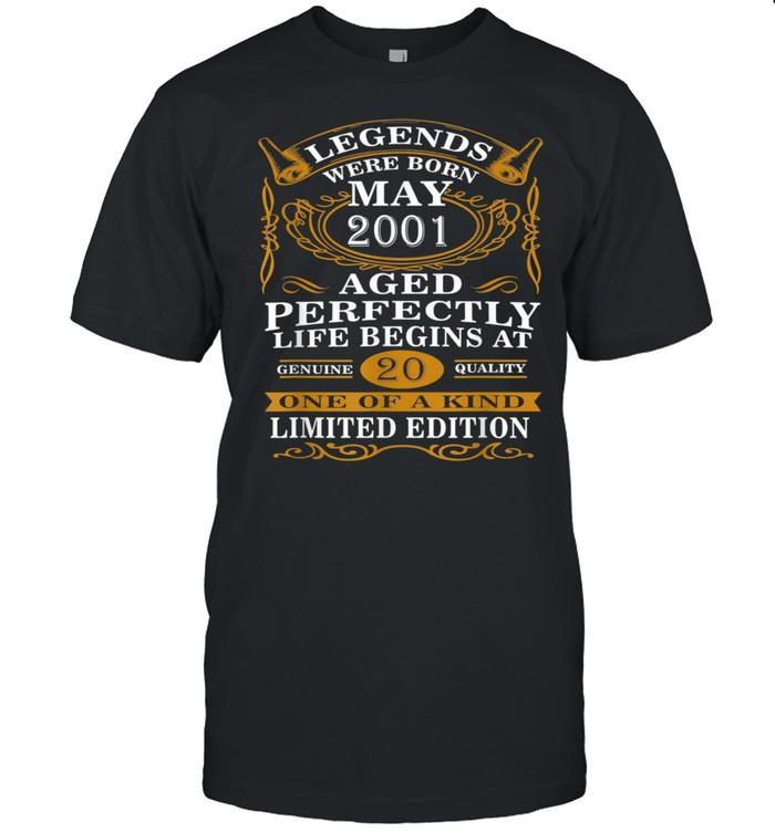 Legends Were Born May 2001 20th Birthday Shirt