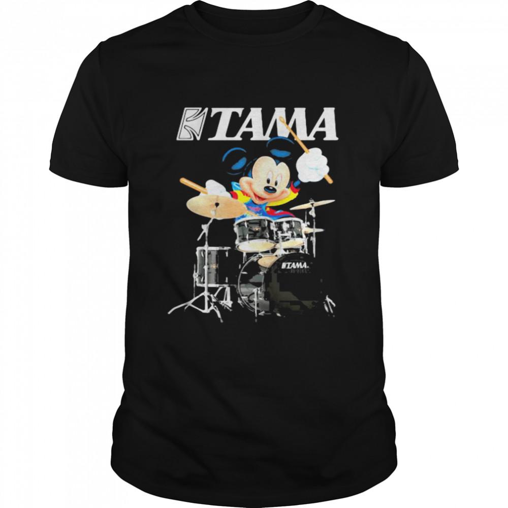 Mickey Drumming With Tama Logo  Classic Men's T-shirt