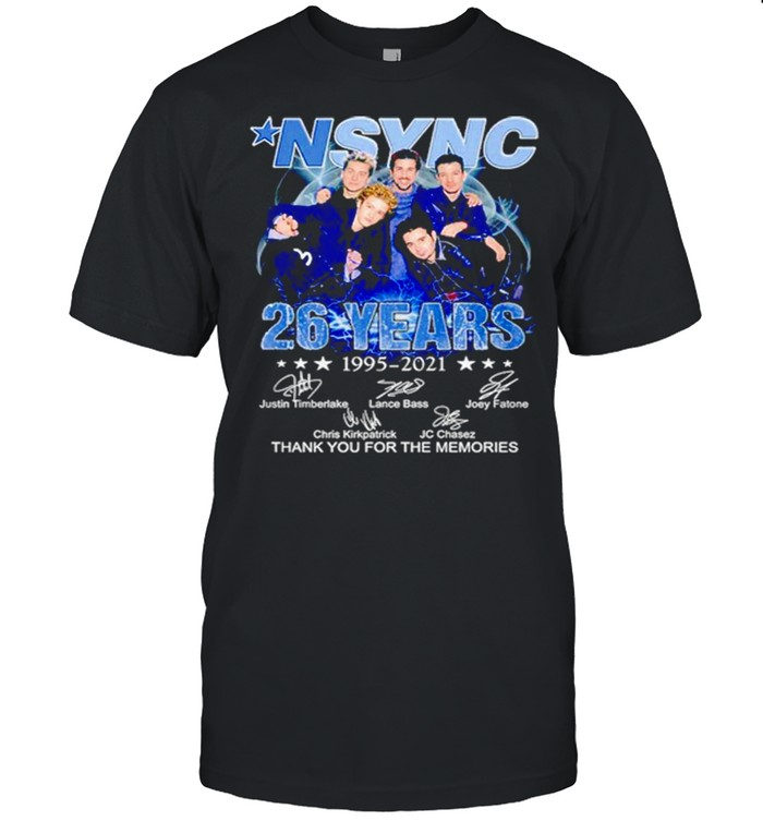Nsync 26 Years 1995 2021 Thank You For The Memories Signatures  Classic Men's T-shirt