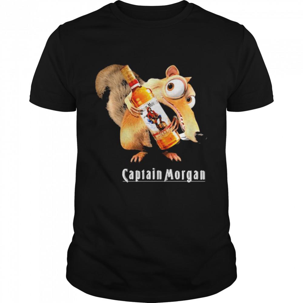 Scrat Do Chris Wedge Holding Captain Morgan Logo  Classic Men's T-shirt