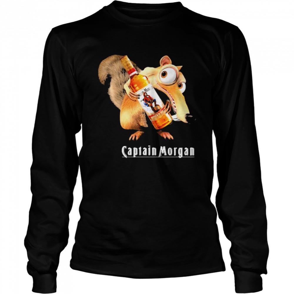 Scrat Do Chris Wedge Holding Captain Morgan Logo  Long Sleeved T-shirt