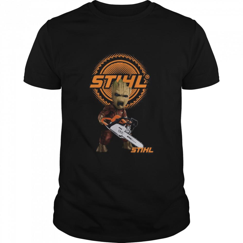 STIHL Baby Groot Chainsaw Guardians Shirt