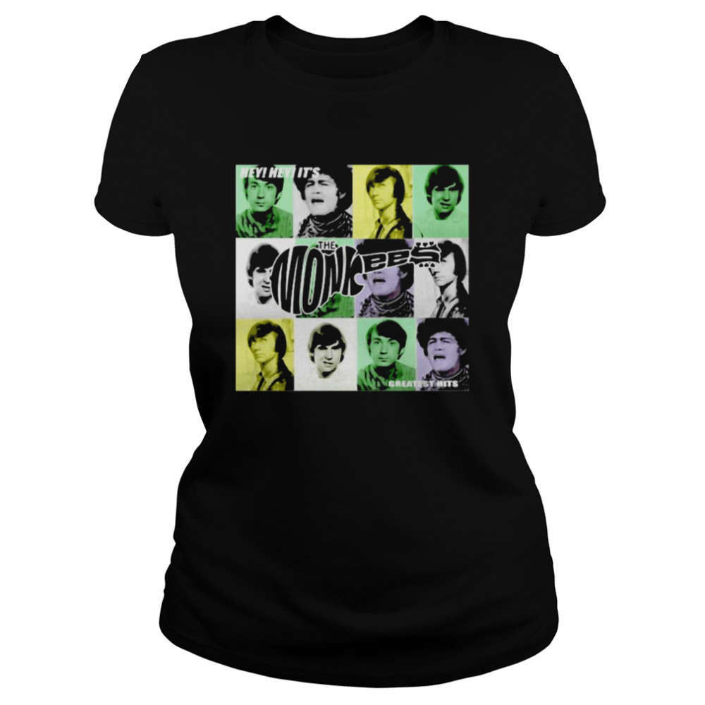 Hey Greatest Hits The Monkees  Classic Women's T-shirt