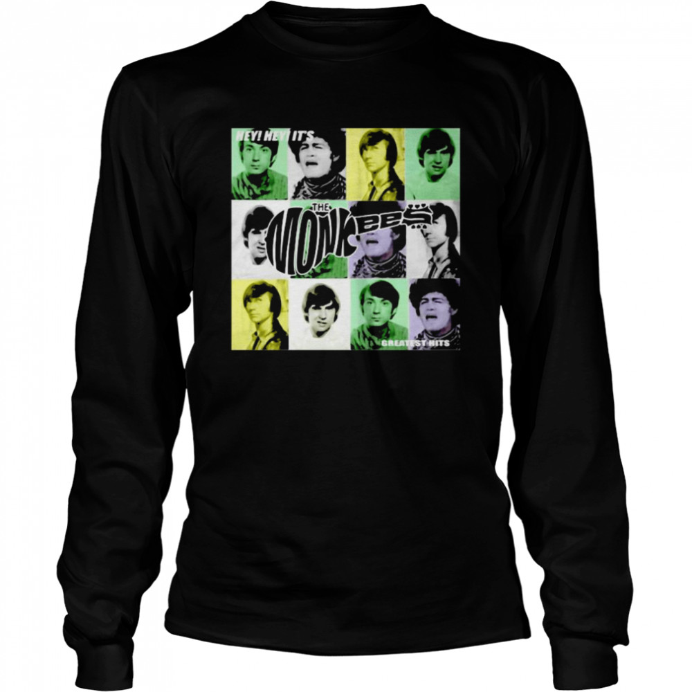 Hey Greatest Hits The Monkees  Long Sleeved T-shirt