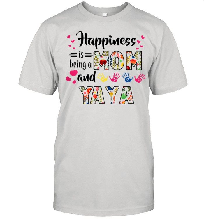 Happiness Is Being A Mom And Yaya Flower shirt Classic Men's T-shirt