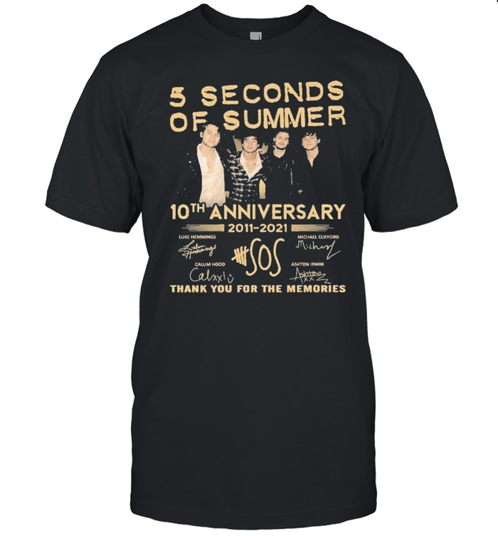 5 seconds of summer 10 th anniversary 2011 2021 thank you for the memories shirt Classic Men's T-shirt