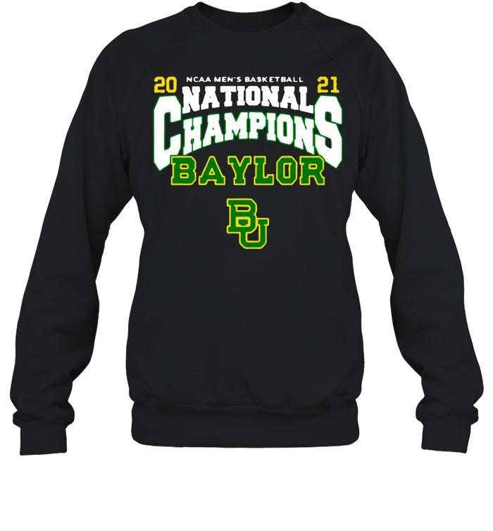 BU Baylor Bears 2021 NCAA Men's Basketball National Champions Posterize Bracket shirt Unisex Sweatshirt