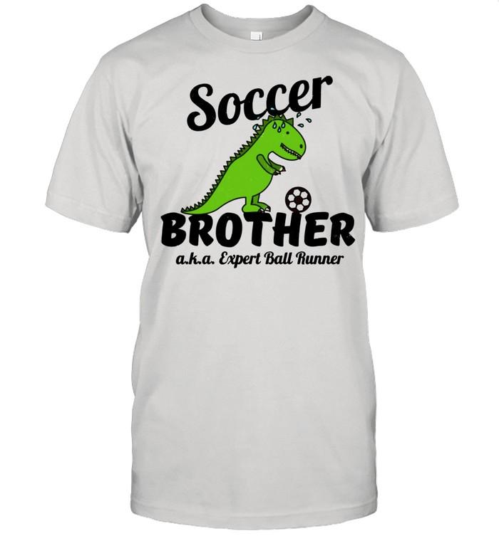 Little Brother Soccer Ball Runner Distressed shirt