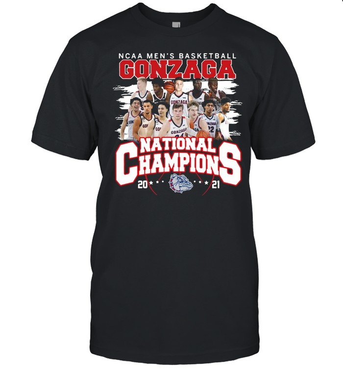 Ncaa mens basketball Gonzaga Bulldogs national champions 2021 shirt