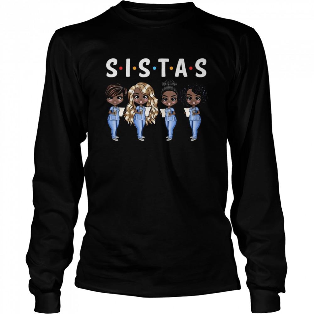 Nurse Sistas T-shirt Long Sleeved T-shirt