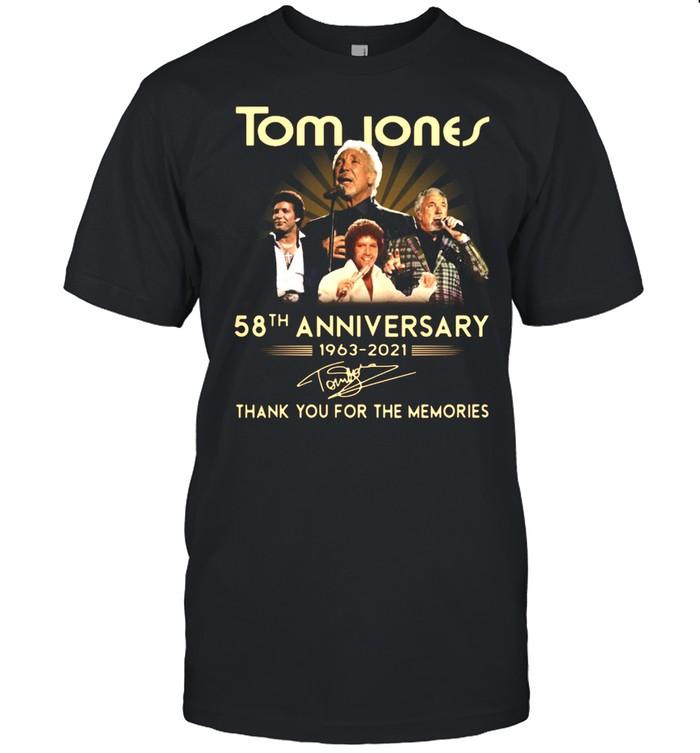 Tom Jones 58th anniversary 1963 2021 thank you for the memories signature shirt Classic Men's T-shirt