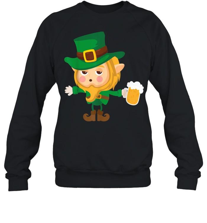 Cute Drunk Elf On Cool St. Patrick's Day For shirt Unisex Sweatshirt