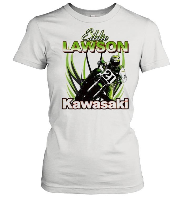 Eddie Lawson Kawasaki King Of The Mountain World Champion Motorcycle  Classic Women's T-shirt