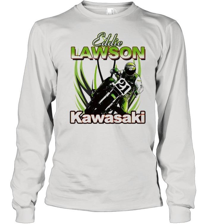 Eddie Lawson Kawasaki King Of The Mountain World Champion Motorcycle  Long Sleeved T-shirt