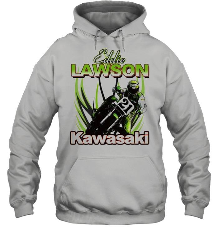 Eddie Lawson Kawasaki King Of The Mountain World Champion Motorcycle  Unisex Hoodie