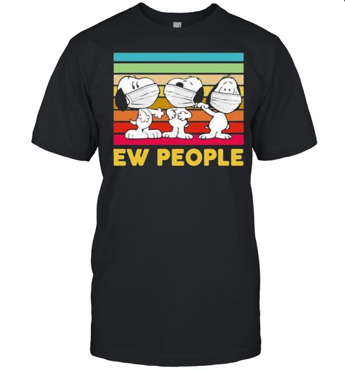 Ew People Three Snoopy Wear Mask VIntage Shirt