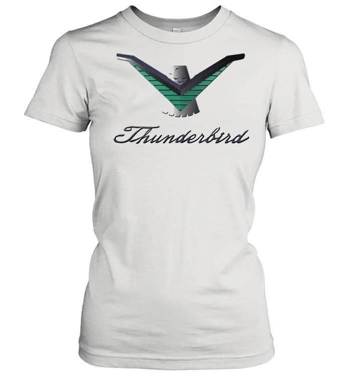 Ford Thunderbird Neon Sign Black 224  Classic Women's T-shirt