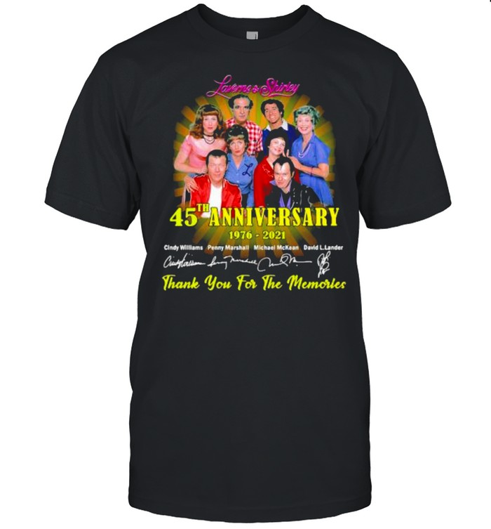 Laverme And Shirley 45th Anniversary 1976 2021 Thank You For The Memories Signature  Classic Men's T-shirt