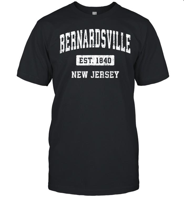 Bernardsville New Jersey NJ Vintage Sports Established Desig shirt Classic Men's T-shirt
