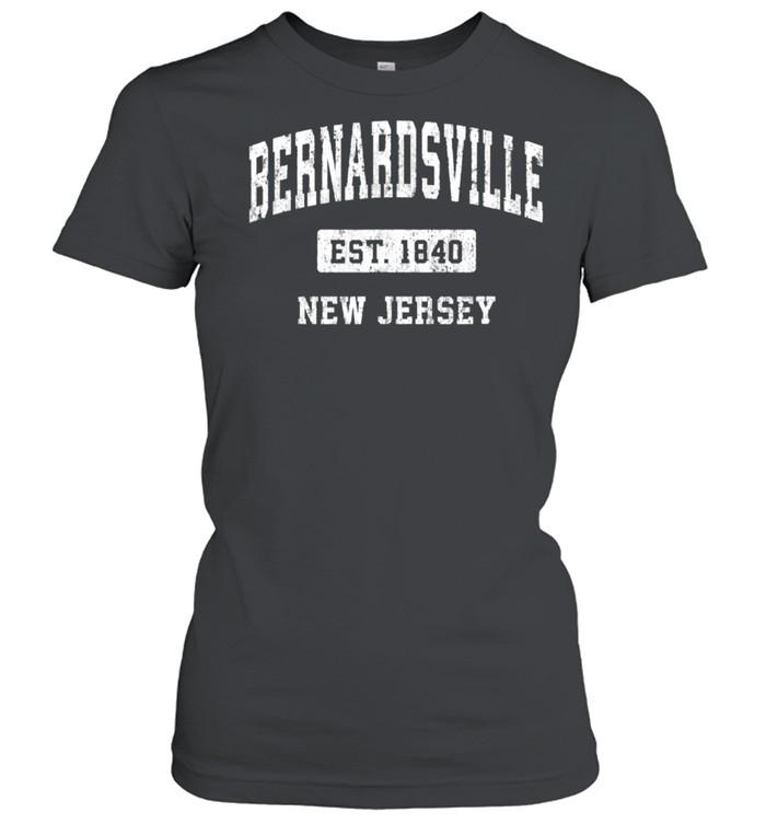 Bernardsville New Jersey NJ Vintage Sports Established Desig shirt Classic Women's T-shirt