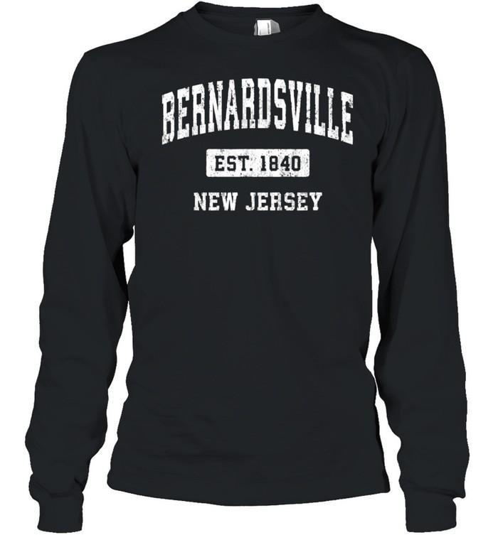 Bernardsville New Jersey NJ Vintage Sports Established Desig shirt Long Sleeved T-shirt
